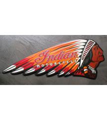 plaque indian motorcycle emboutie