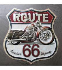 plaque blason moto route 66...