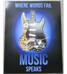 plaque avec une guitare...