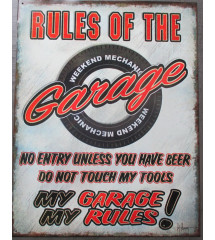 plaque rules of the garage...