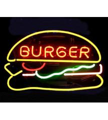 néon publicitaire burger...