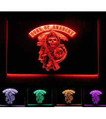 neon sons of anarchy multicolore , telecommande
