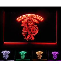 neon sons of anarchy multicolore , telecommande
