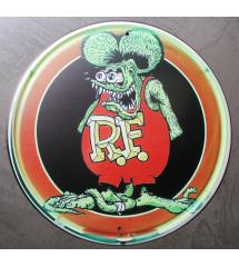 plaque rat fink ronde 30cm...