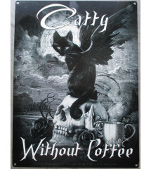 plaque catty withou coffe...