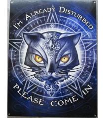 plaque chat et pentagramme...