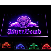 plexi multicolore LED jager bomb