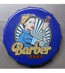 plaque metal capsule barber...