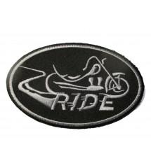 patch ovale logo ride avec...