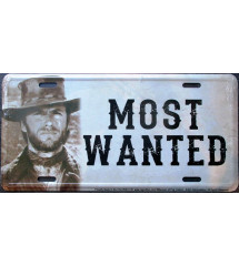 license plate clint eastwood , most wanted plaque