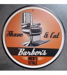 plaque metal barber's avec...