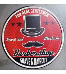 plaque metal barbershop...