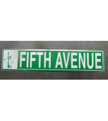 plaque de rue fifth avenue...