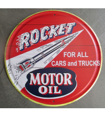 plaque rocket motor oil...