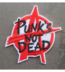 patch punk not dead 9x8.5cm...