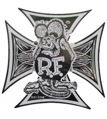 sticker rat fink croix de...