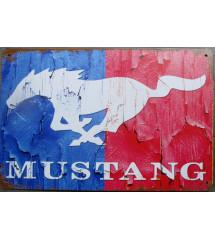 plaque ford mustang bleu et...