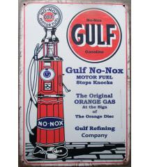 plaque pompe essence GULF...