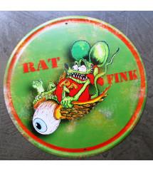 plaque decorative rat fink...