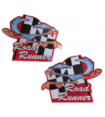 2 stickers road runners damiers