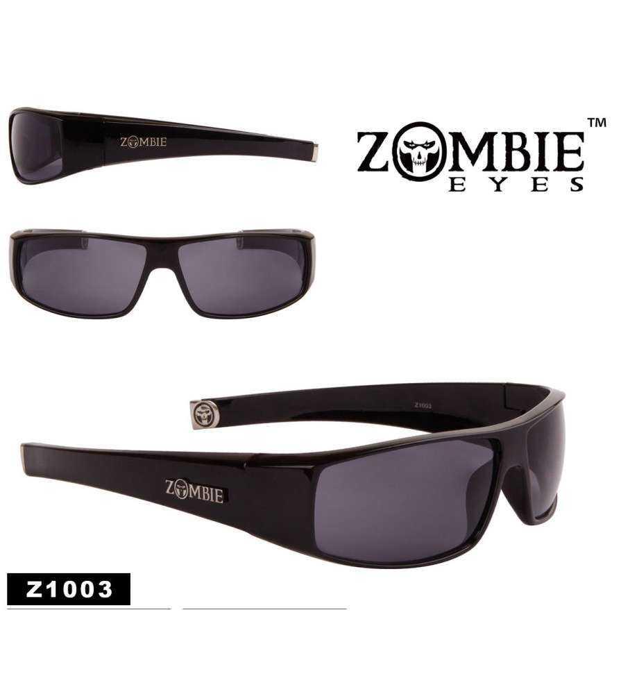 lunette zombie  noir brillante ,