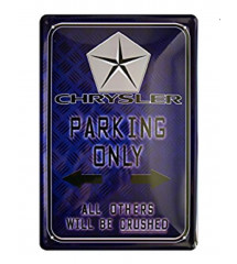 plaque chrysler parking only