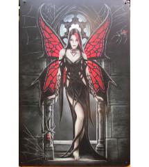 plaque pin up gothique aille de papillon
