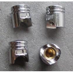 bouchon valve de roue (x4) piston auto moto velo usa chrome