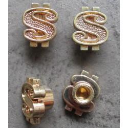bouchon valve de roue (x4) dollar doré auto moto velo kustom