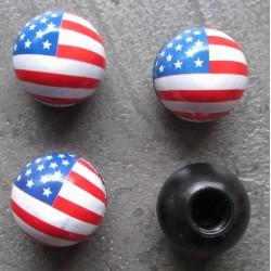 bouchon valve de roue (x4) drapeau usa americain auto mot