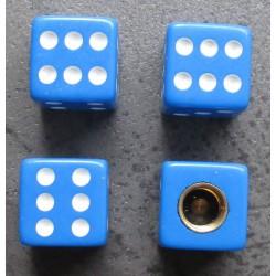bouchon valve de roue (x4) de bleu blanc auto moto velo