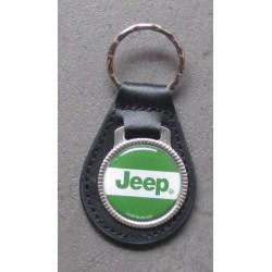 porte clé métal cuir jeep vert blanc 4x4 auto usa militaire