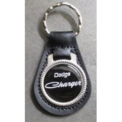 """porte clé métal cuir dodge charger"""" écriture"""" auto usa"""