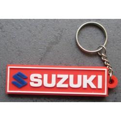 porte clé moto suzuki rect rouge plastique souple sportive