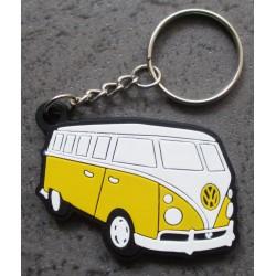 porte clé vw combi jaune de coté plastique souple volkswagen