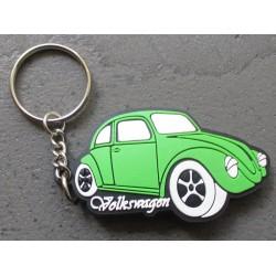 porte clé vw coc coccinelle verte volkswagen plastique