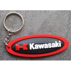 porte clé moto kawasaki oval noir tour rouge  sprtive