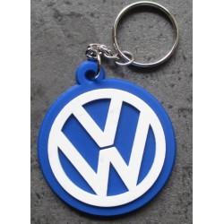 porte clé sigle VW logo bleu et blanc volkswagen plastique