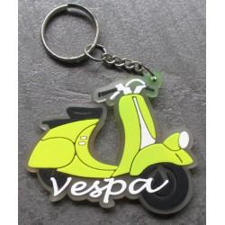 porte clé vespa jaune scooter plastique souple