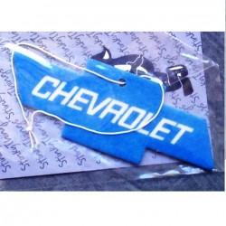 désodorisant chevrolet bleu logo auto cruze camaro corvette