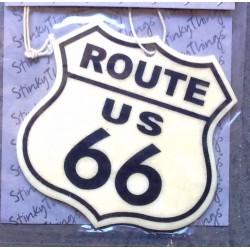 désodorisant route 66 logo blanc blason auto voiture