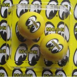 bouchon valve de roue (x2) moon eyes jaune oeil auto moto