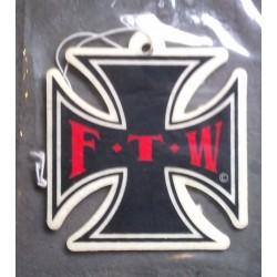désodorisant  croix malte noire  FTW ( fuck the world)