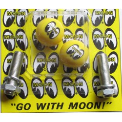 fixation de plaque moon eyes jaune mooneyes auto moto usa
