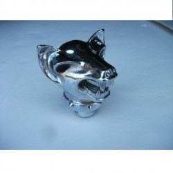 levier de vitesse chien méchant pommeau en métal chromé