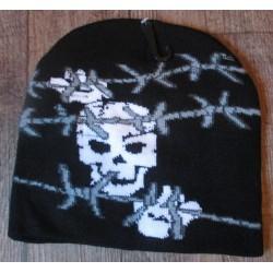 bonnet noir crane pirate barbelé rockroll adulte homme femme
