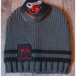 bonnet dodge gris bande noir enfant 6-12 ans logo rouge