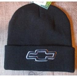 bonnet chevrolet noir adulte homme femme logo gris officiel