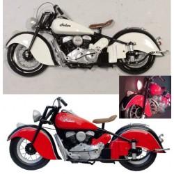 moto indian en 3d blanche ou rouge deco murale biker usa