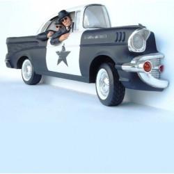 coté voiture police et blues brothers 3d  bel air 1957  deco